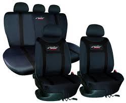 housse de siege tuning housse siège type h tissu noir universel housses pour siège auto