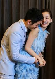 Huang Xiaoming And Angelababy Attending A Beijing Press