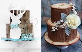 Tree Bark Cakes Woodgrain Effect By Peggy Does Cake Left Ciccio Right