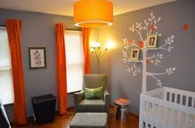 chambre enfant gris et couleur chambre enfant gris orange