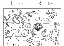 Kindergarten Coloring Worksheet Hide And Seek