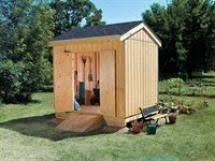 free plans and material lists for an 8x8 tool or storage shed from
