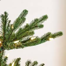 Realistic Artificial Christmas Trees Canada by 6ft Pre Lit Green Real Imperial Spruce Artificial Christmas Tree