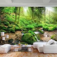 vlies fototapete wald grün landschaft baum tapete wandbilder
