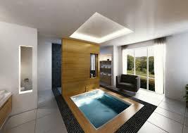 Interessane Gestaltung Eingelassene Badewanne Hölzerne Bretter Extravagante Natur Badezimmer Surfinser Com