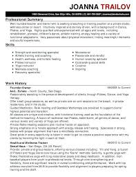 Resume Summary Examples Trainer Also For Frame Inspiring Teachers Assistant 423