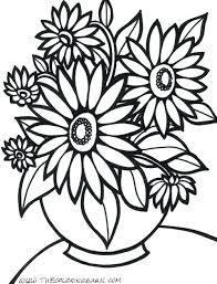 Coloring Pages Flower Flowers Printable Print Adults Images Rose Full Size