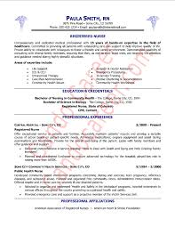 Nurse Resume Simple Examples Of Nursing Resumes