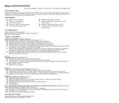 Sample Respiratory Therapy Resume