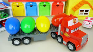 100 Toy Car Carrier Truck S Rier Truck And Surprise Eggs Bot Car Toys Play