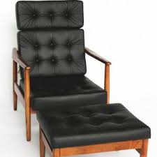 Leather Tufted Chair And Ottoman by Furniture Leather Chair With Ottoman For Cozy Living Room Design