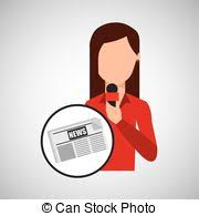 Character Woman Reporter News Template Graphic