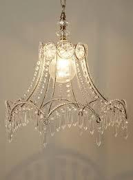 DIY Idea Old Lamp Shade Skeletons Chandelier