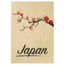 Visit Japan Retro Travel Print Wood Poster