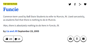 But We Wouldnt Have Ball State Without The Lovely City Of Muncie Or What Prefer To Call It Funcie