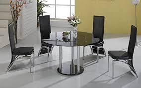 hgg schwarz glas esstisch und stühle runder glas esstisch