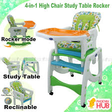 Phoenix Hub 4 In 1 High Chair Rocker Study Table BS-8602 Convertible ...
