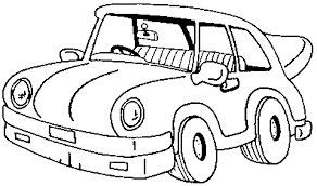 Classic Cartoon Car Coloring Page