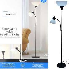 Mainstays Floor Lamp With Reading Light Assembly by Glass Modern Floor Lamps Ebay