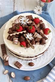 kinder schokolade torte mit erdbeeren rezeptebuch