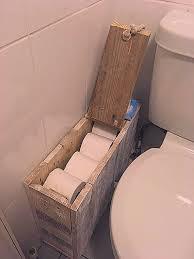rustikale shabby chic aufbewahrungsbox für badezimmer auf
