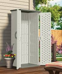 Suncast Plastic Garage Storage Cabinets by Amazon Com Suncast Bms1250 Shed Tool Vertical 22 Cu Ft