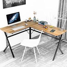 Dland puter Desk L Shaped Double Home fice PC Laptop Desk