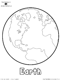 Free Earth Printable Outlines And Shape Book Writing Pages Atozteach