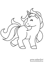 Cute Coloring Pages Of Unicorns