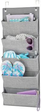 mdesign schrank organizer ohne bohren hängeorganizer mit 5 fächern mehrzweckschrank für über die tür für schlafzimmer waschraum oder flur grau