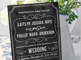 Rustic Wedding Chalkboard Printable Invitation Template