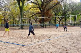 Volleyball In Central Park Grass Court Cstruction Outdoor Voeyball Systems Image On Remarkable Backyard Serious Net System Youtube How To Construct A Indoor Beach Blog Leagues Tournaments Vs Sand Sports Imports In Central Park Baden Champions Set Gold Medal Pro Power Amazing Unique Series And Badminton Dicks