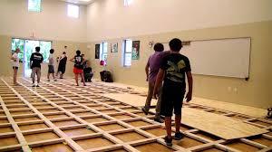 Rosco Adagio Dance Floor by Irchs Sprung Dance Floor Installation Youtube