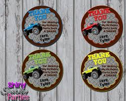 Printable Monster Truck Party Favor Tags (Digital File Only ... Monster Jam Trucks Do It Yourself Birthday Party Favor Truck 3d Delux Pack This Started Colors Jams Supplies Together With Jam Gravedigger Ideas Photo 6 Of 10 Cre8tive Designs Inc Custom Printable Invitation Canada Tags For Cheap Derby Suckers Lollipops Favors Twittervenezuelaco Real Parties Modern Hostess
