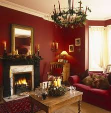 red color schemes for living rooms