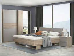 details zu schlafzimmer set komplett 4 teilig bianco eiche basalt grau modern 66313228