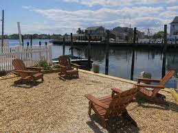 Wharfside Patio Bar Point Pleasant waterfront new home 1 block to the beach vrbo
