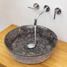 marmor waschbecken 42x42cm schmal zulaufend grau