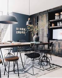 moodboard collection industrial style interior decor trend