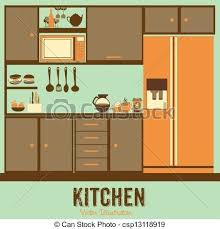 Kitchen Clip Art Vector Clipart Borders