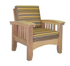 Amish Cypress Mission Patio Lounge Chair With Cushions From