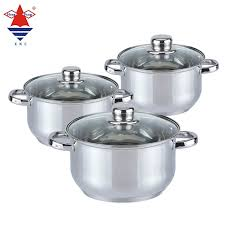 heiß verkaufendes küchen geschirr günstiger preis 6 stück auflauf suppen töpfe edelstahl kochtopf set buy kochen töpfe kochgeschirr sets topf set