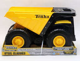 Tonka Steel Classic Toughest Mighty Dump Truck - Goliath Games ... Tonka Classics Mighty Dump Truck Toughest Large Metal Sandpit Classic Front Loader Online Toys Australia Amazoncom Wader Trailer And Toy Set By Polesie Tonka Steel Toughest Mighty Dump Truck R Us Canada Sdupertoybox Dumptruck Funrise Distribution Company 90667 Steel Cstruction Vehicle For Model Northern Play Vehicles Upc Barcode Upcitemdbcom Toyworld