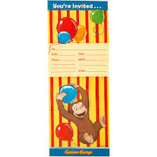 Curious George Toddler Bedding by Curious George Invitations 8ct Walmart Com