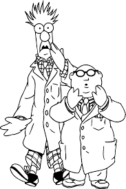The Muppets Beaker Bunsen Honeydew Shocking Coloring Pages