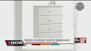 6 Drawer Dresser Walmart by Dresser Sold Exclusively On Walmart Online Recalled Youtube