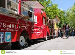 100 Food Trucks In Atlanta People Walk Among At Springtime Festival