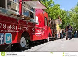 100 Food Trucks Atlanta People Walk Among At Springtime Festival