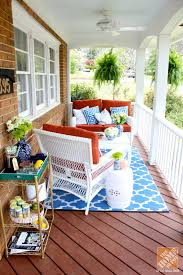 Front Porch Decorating Ideas Southern Charm With Mediterranean Color