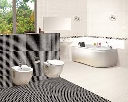 modern bathroom with white subway tile benefits from white